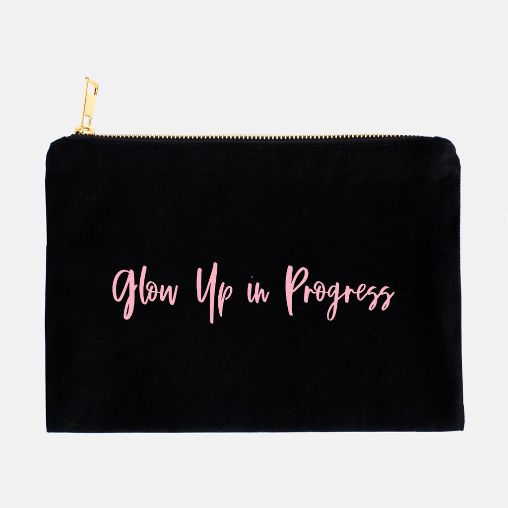 LiveYourDamnLifeShop [PMA13-BK] - Glow Up In Progress - Cosmetic Bag