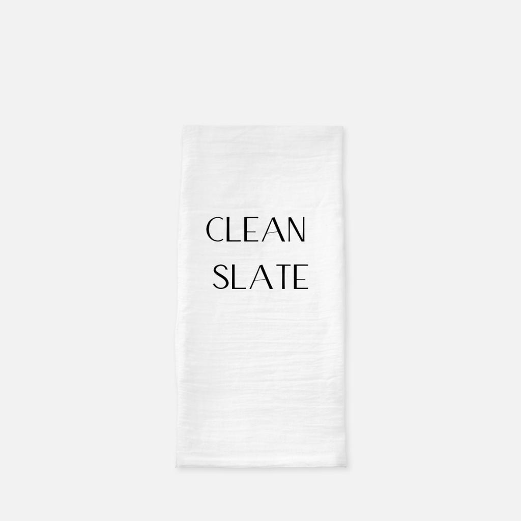 LiveYourDamnLifeShop [PMH26] - Clean Slate - Tea Towel