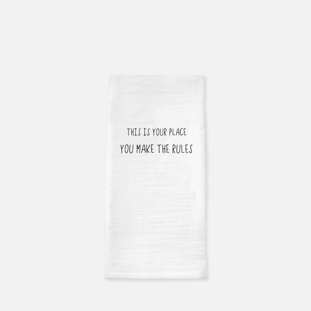 LiveYourDamnLifeShop [PMH26] - This Is Your Place - Tea Towel
