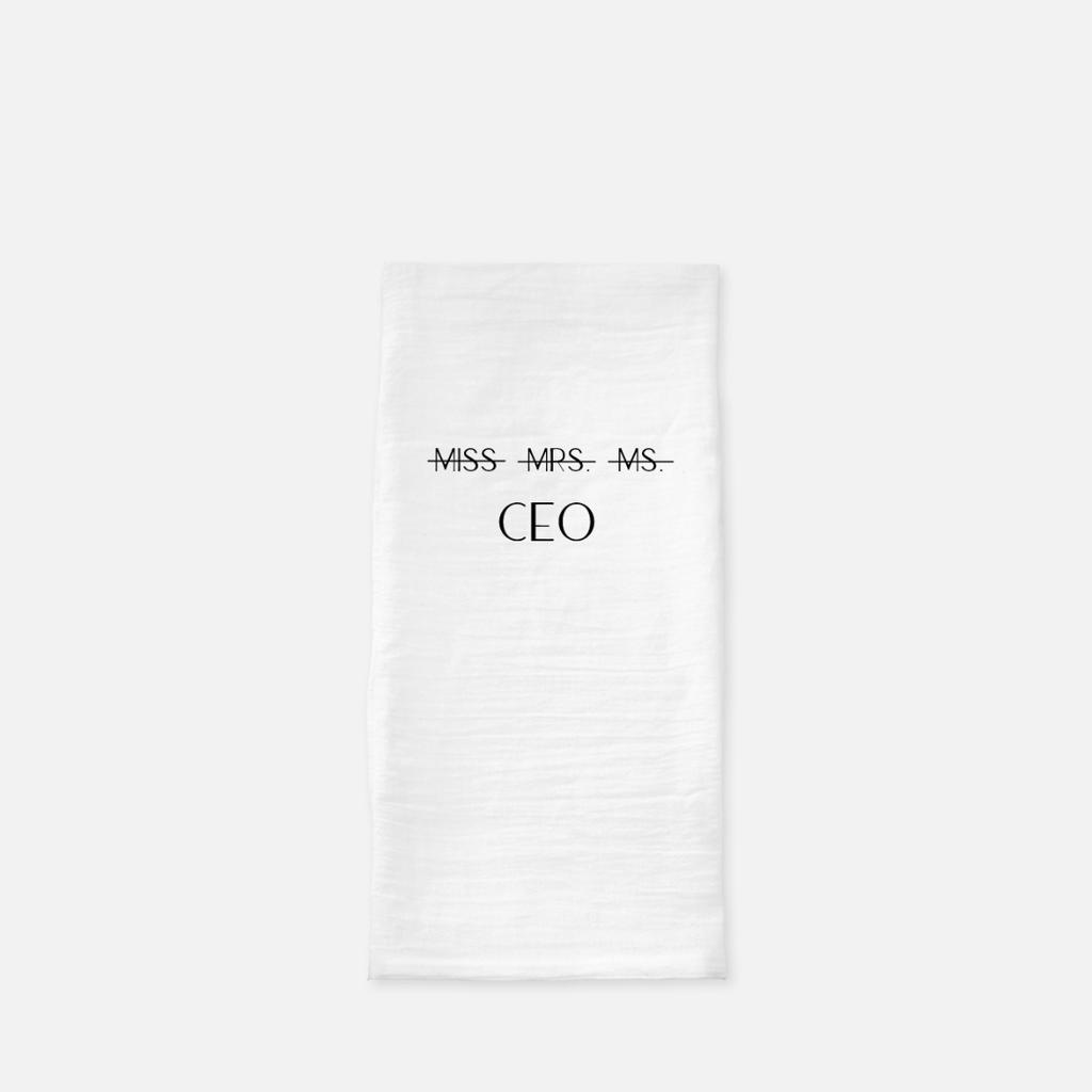 LiveYourDamnLifeShop [PMH26.46845] Miss Mrs. Ms CEO - Tea Towel