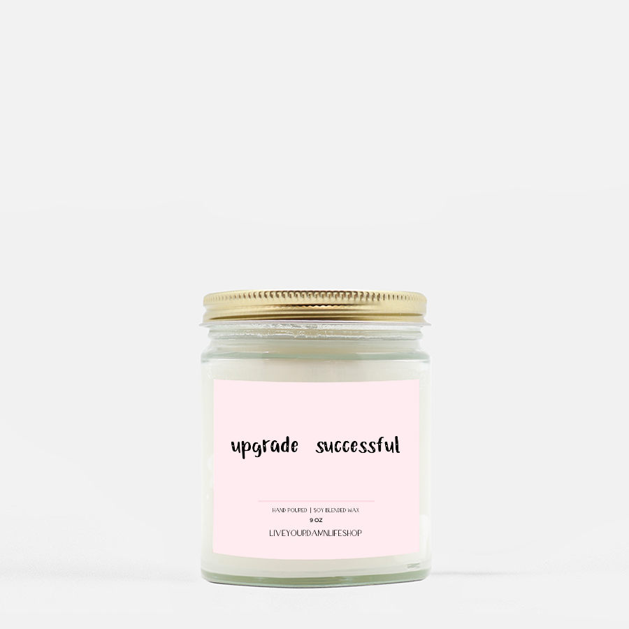 LiveYourDamnLifeShop [PMH40-BD.50330] Upgrade Successful - Candle (Hand Poured 9 oz