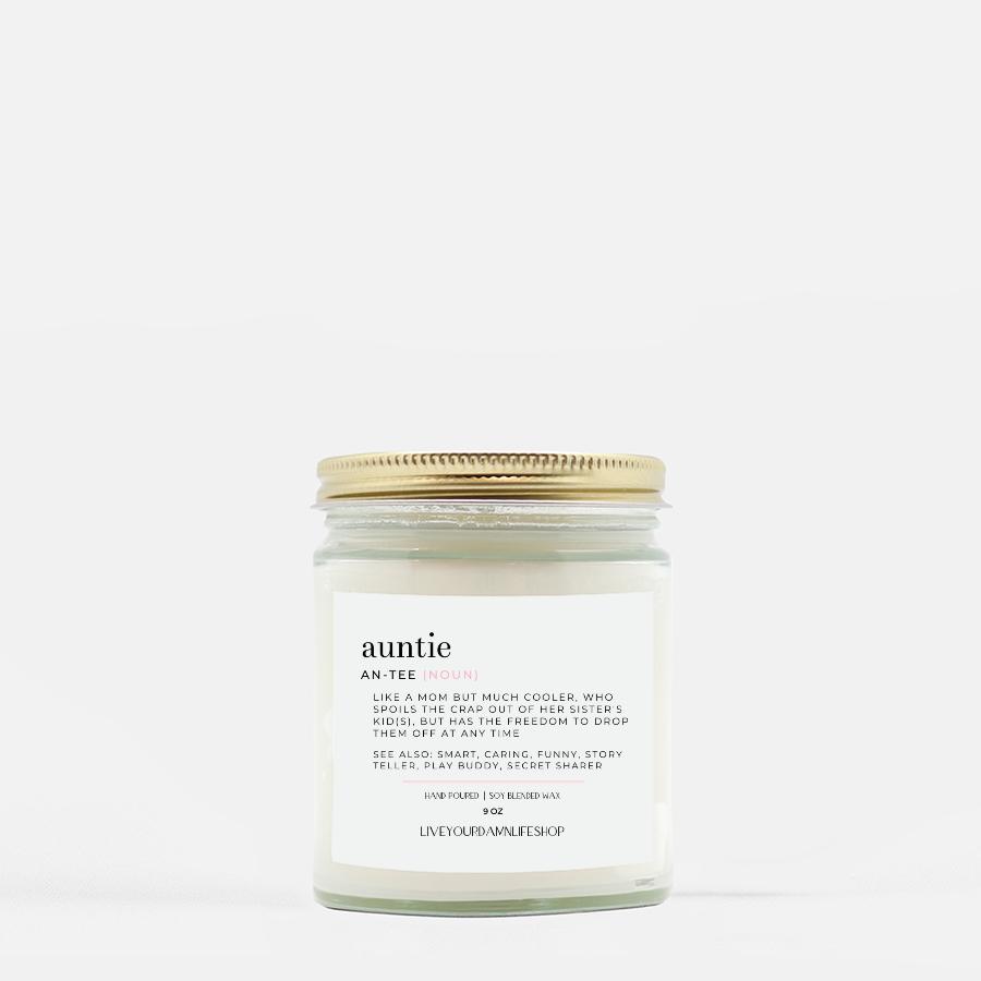 LiveYourDamnLifeShop [PMH40-BD.50340] Auntie Definition - Candle (Hand Poured 9 oz