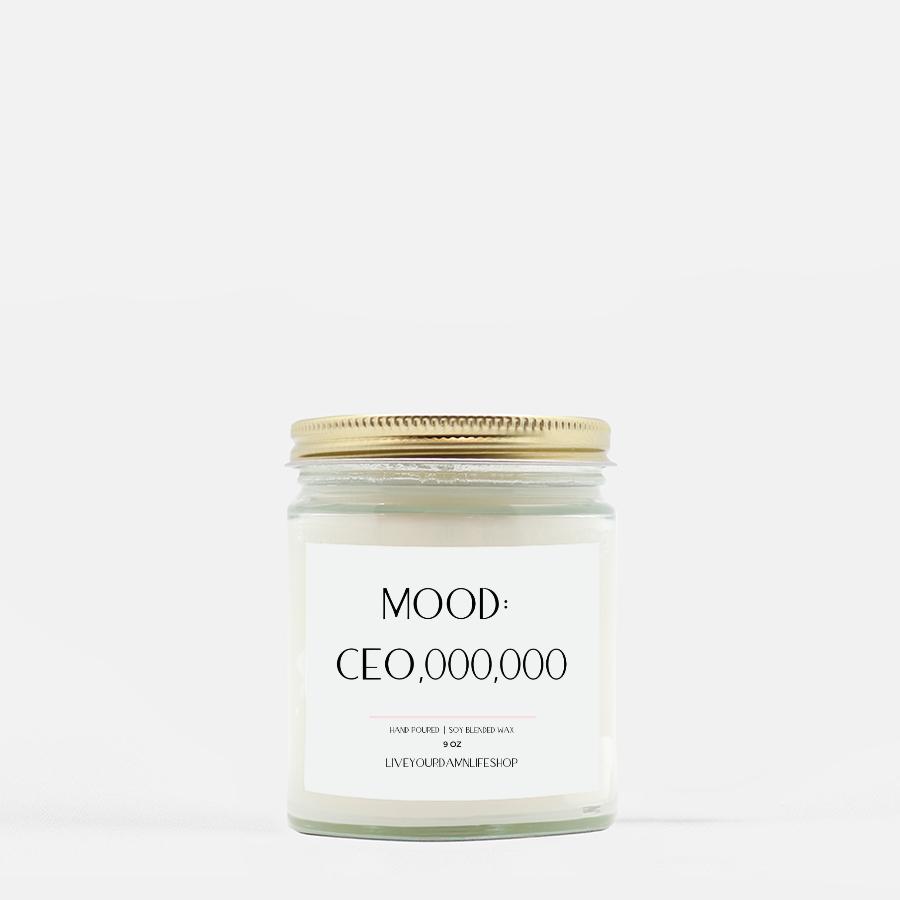 LiveYourDamnLifeShop [PMH40-BD.50450] Mood_ CEO,000,000 - Candle (Hand Poured 9 oz
