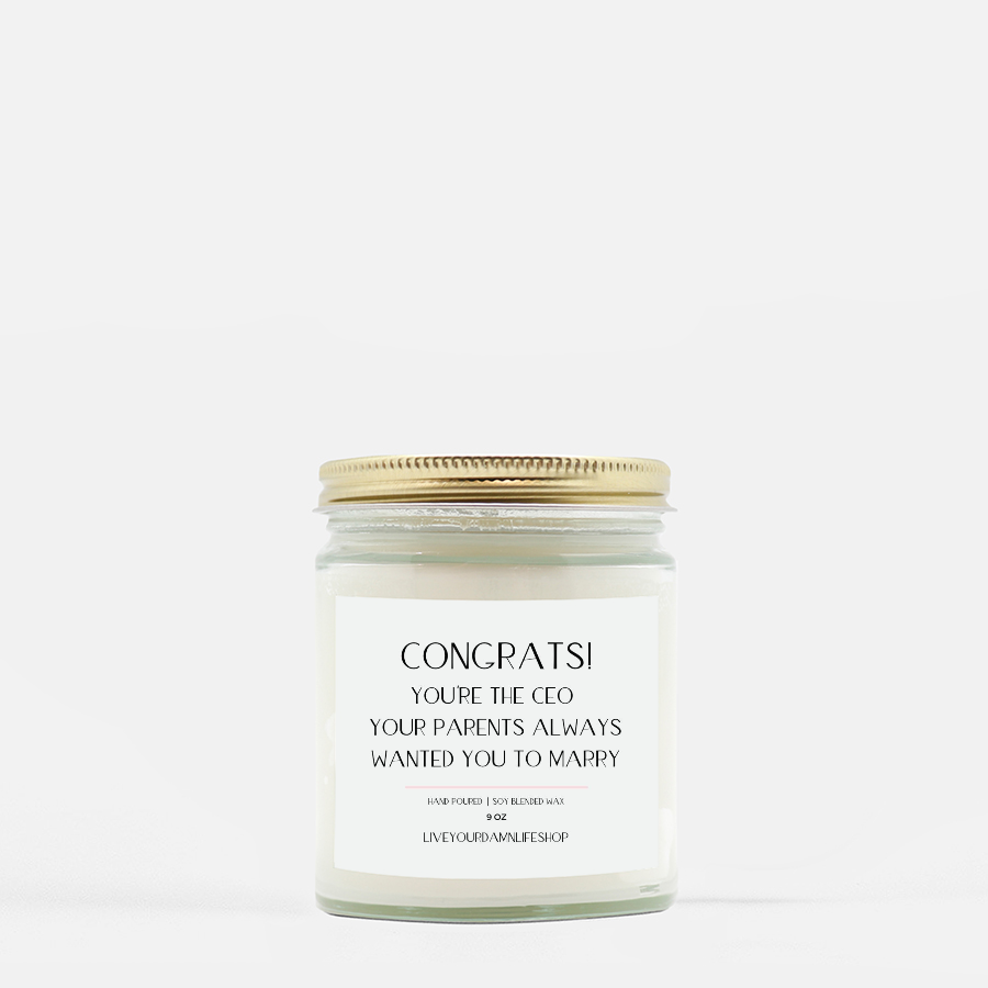 LiveYourDamnLifeShop [PMH40-BD.50460] Congrats! You're The CEO - Candle (Hand Poured 9 oz